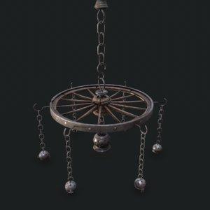3D chandelier wheel model