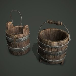 3D wood bucket