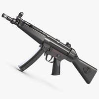 3D submachine gun 5