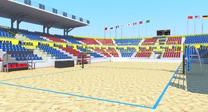 volleyball volley arena 3D