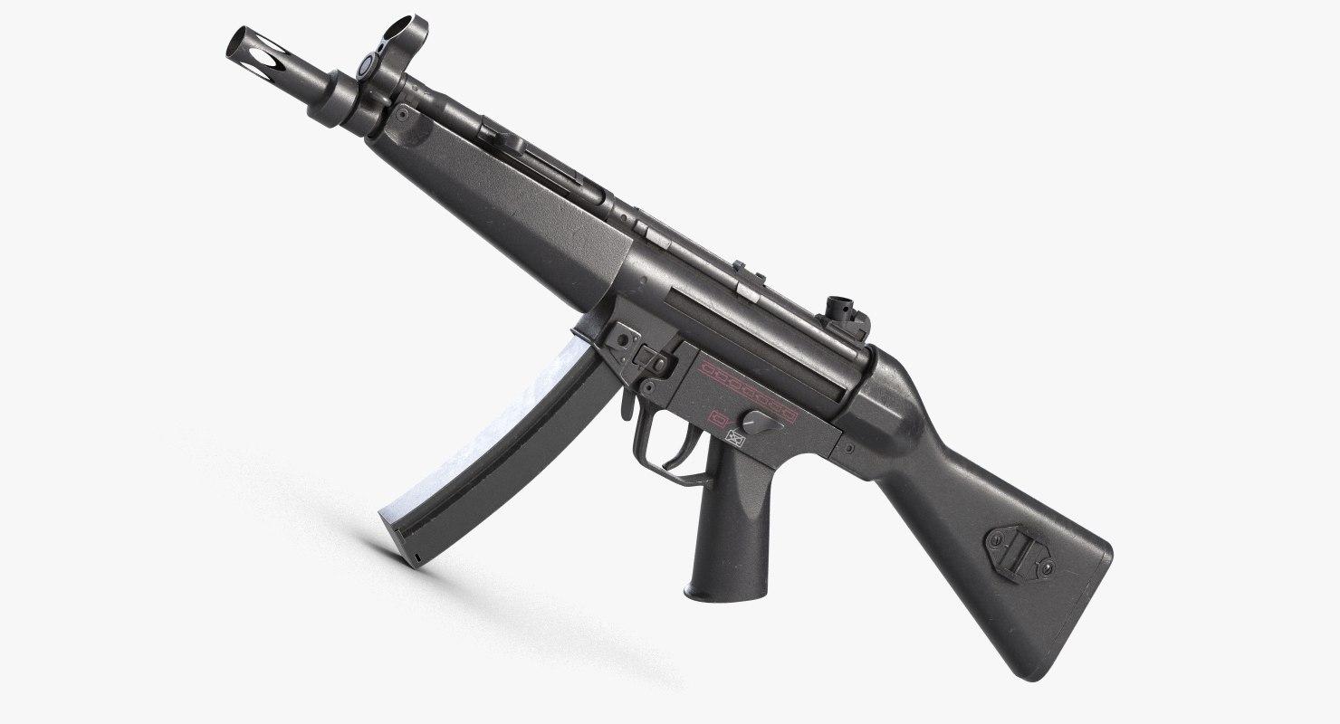 3D submachine gun 5