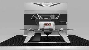 3D modern desk concept