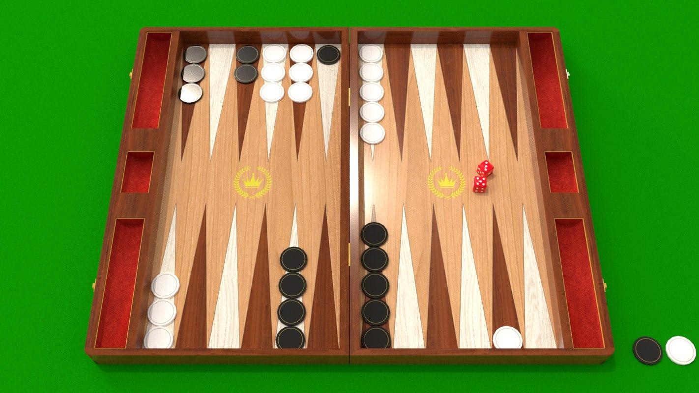backgammon blender 3D model