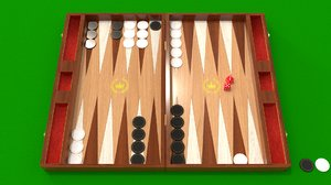 backgammon blender 3D model