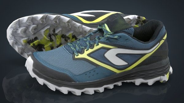 realistics hiking shoes 2 3D