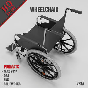 3d wheelchair chair model
