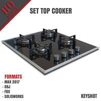 set cooker 3D model