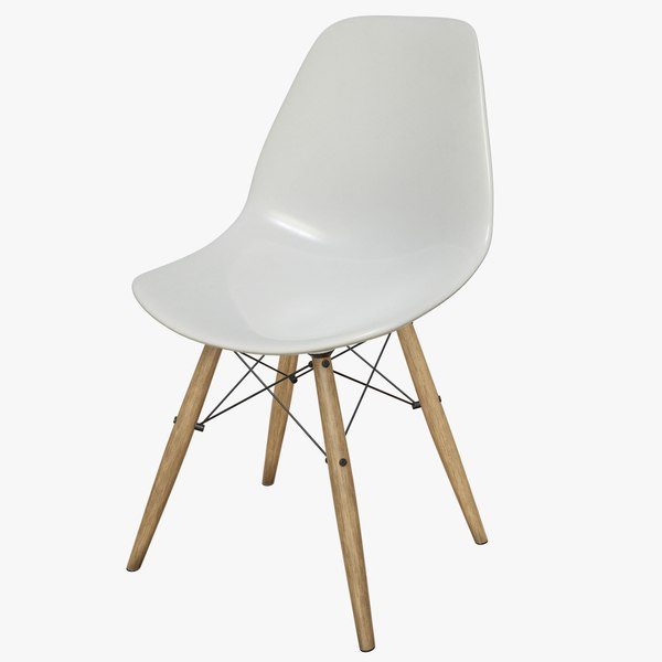 3D model eames style dsw chair