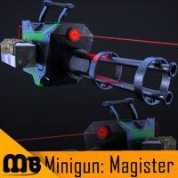 deadly minigun 3D model