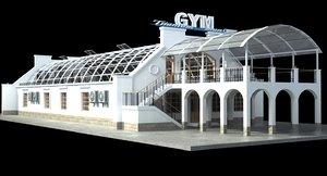 3D gym building