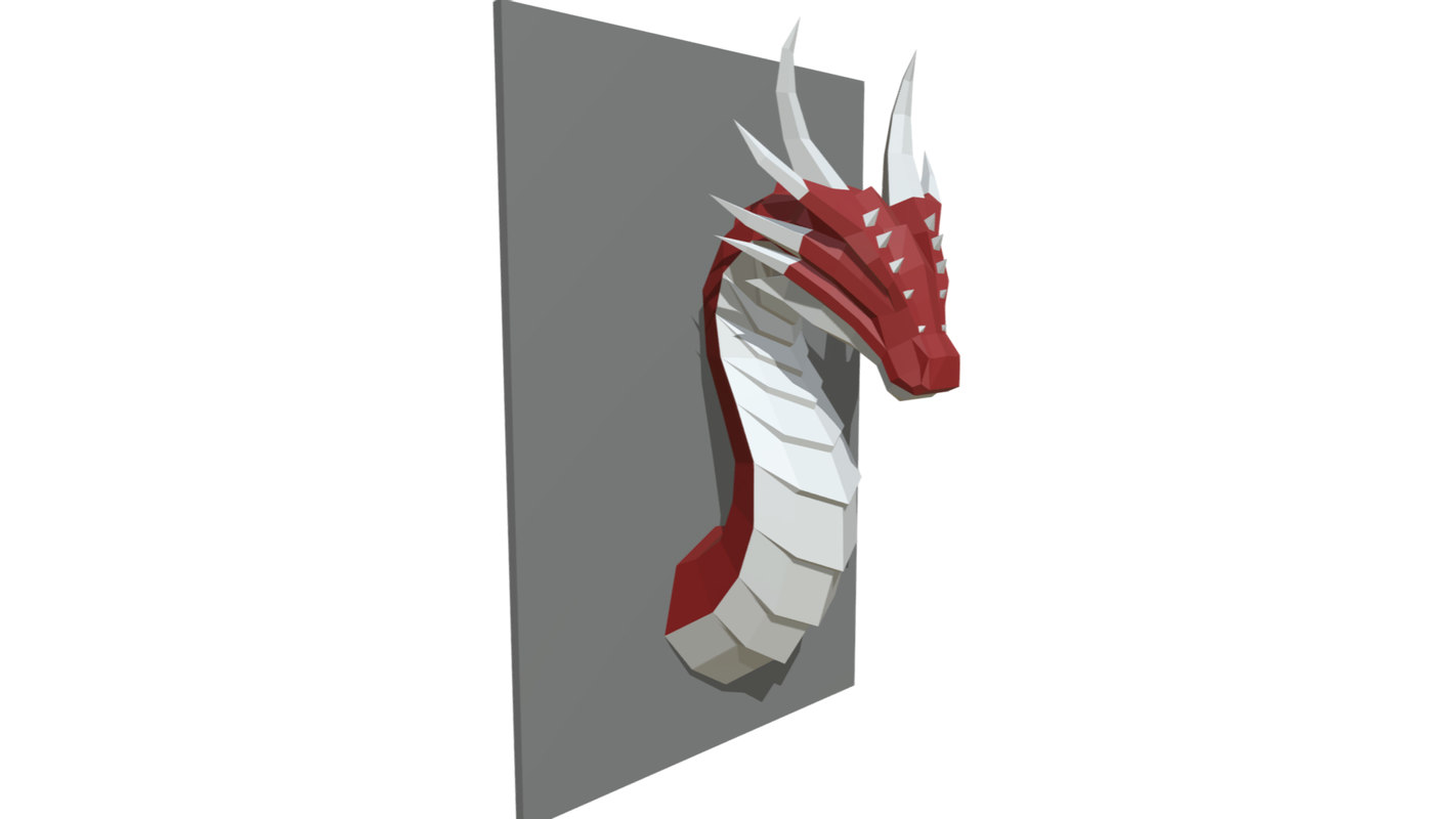 printed dragon figure 3D