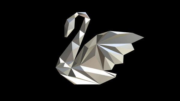 printed swan figure 3D model