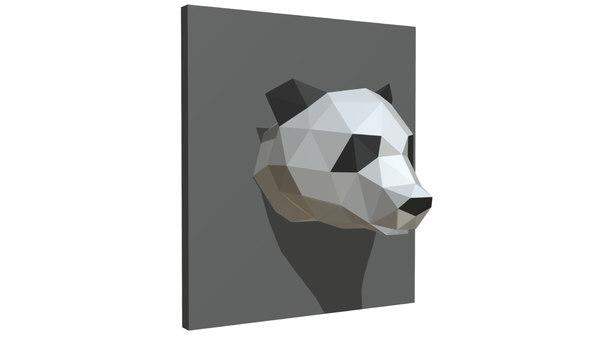 3D panda figure model