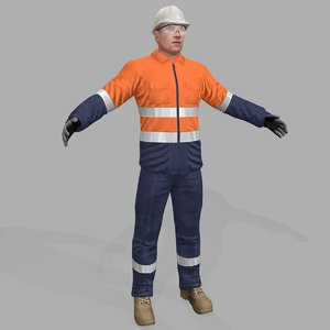 safety worker 3D