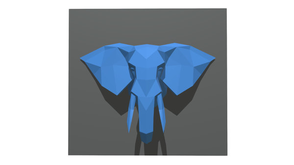 3D model printed elephant figure
