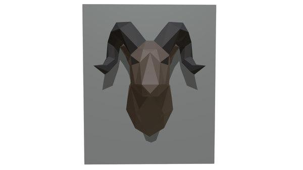 3D ram figure