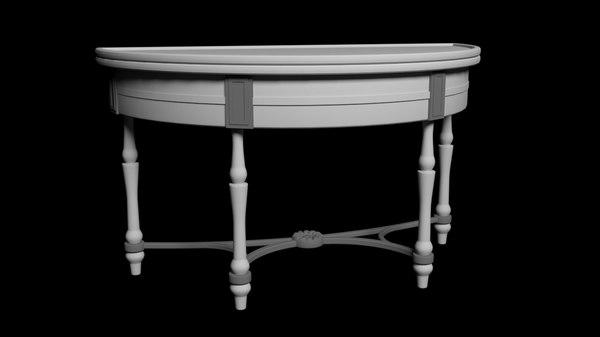 3D table 19th century