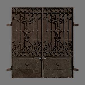 3D polys gates metal model