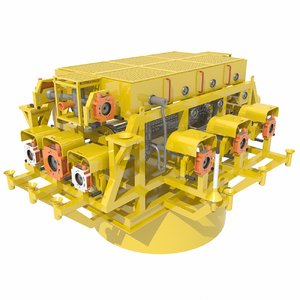 3D subsea cluster manifold