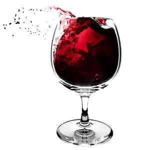 splash wineglass 5 3D