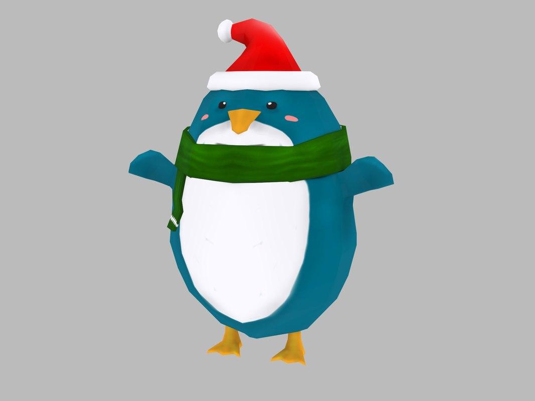 christmas penguin model
