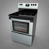 3D model frigidaire electric range l033