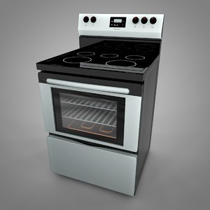 3D model frigidaire electric range l033