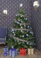 christmas tree (blue)