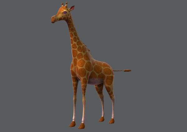 giraffe v01 cartoon animal 3D model