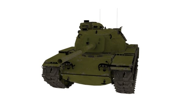 m60 american tank 3D model