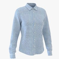 3D classic woman shirt striped
