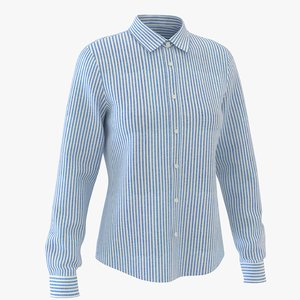 3D classic woman shirt striped