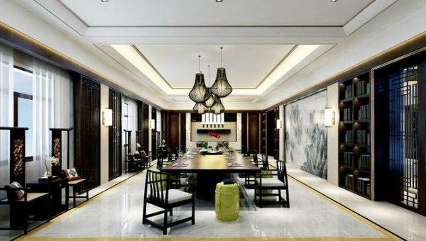 3D luxurious interior living room
