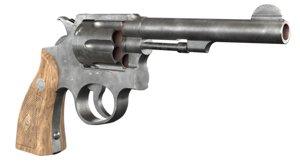 3D firearm pistol revolver