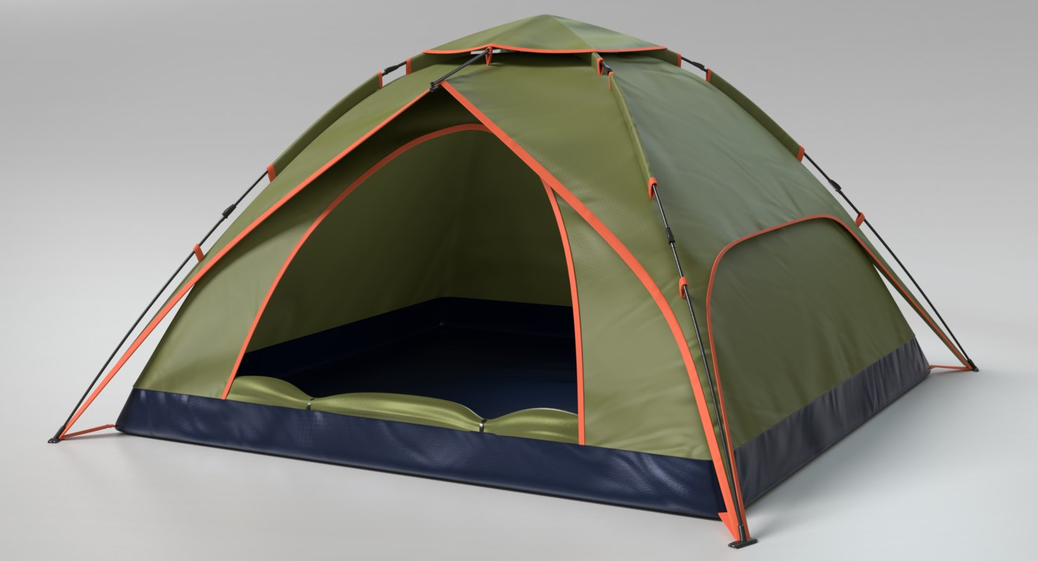 camping tent lantern campfire model