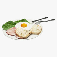 breakfast food 3D model