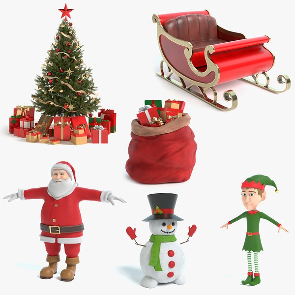 3D christmas tree elf 4 model