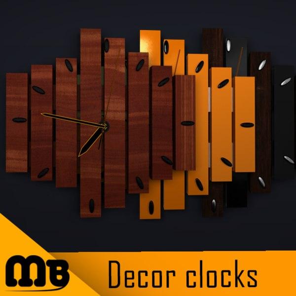 3D clock decor