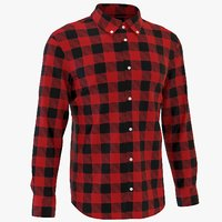 3D classic man shirt plaid model