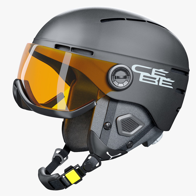 outdoor skiing helmet 3D model