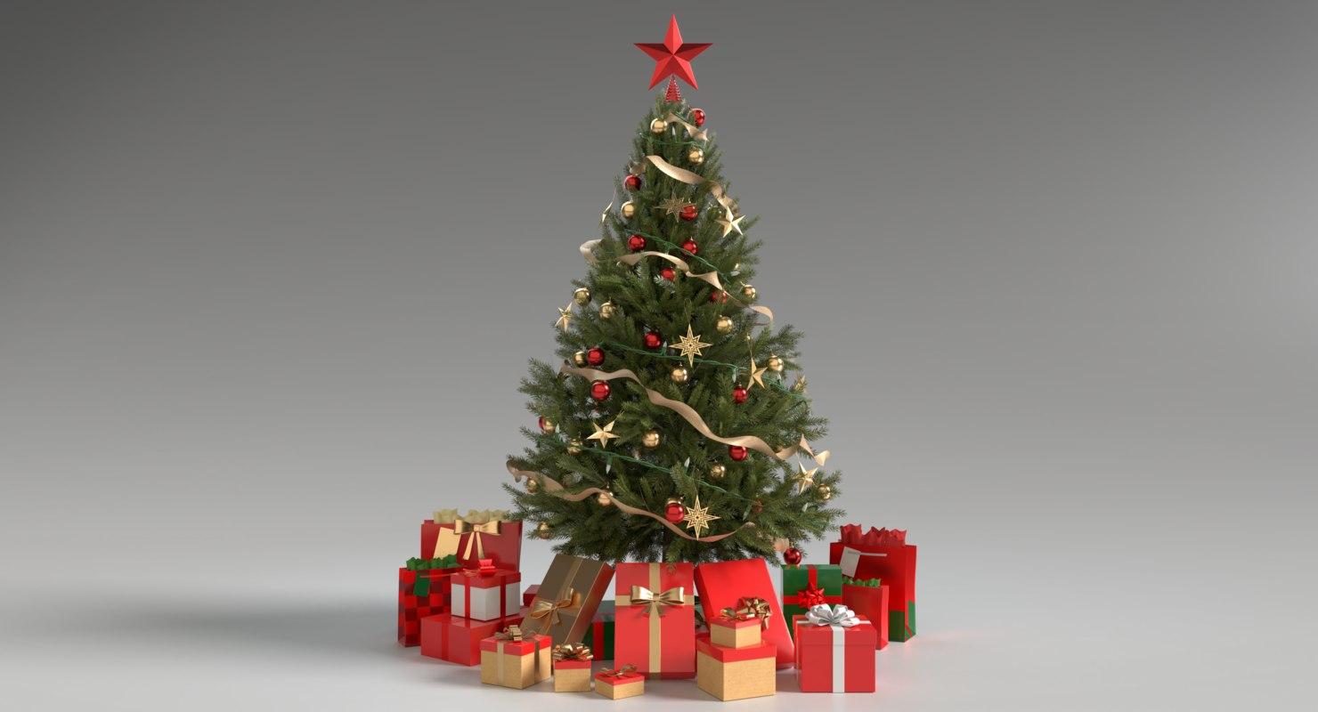 3D christmas tree elf 4 model