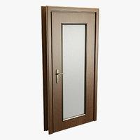 Realistic Wooden Door 001