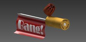 3D gag bullet model