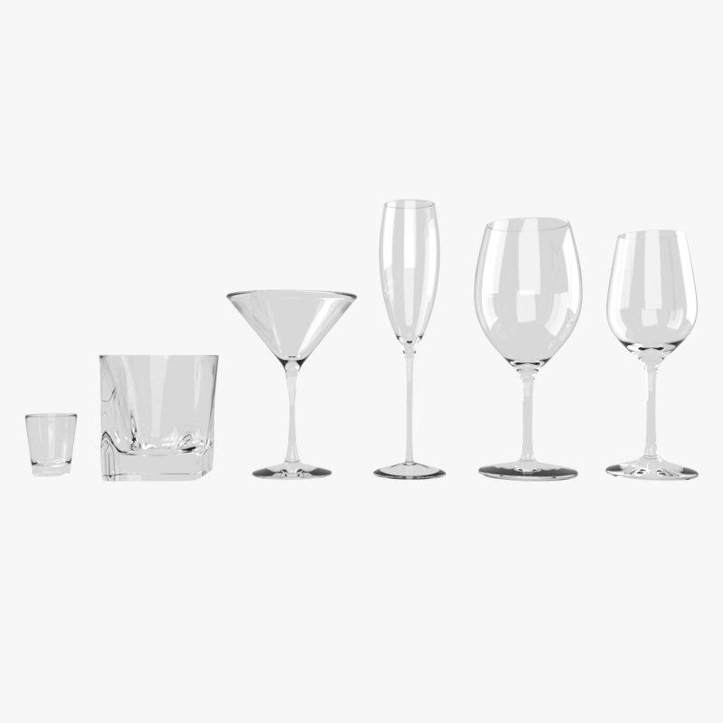 set shot glass 3D