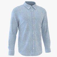 3D model classic man shirt striped