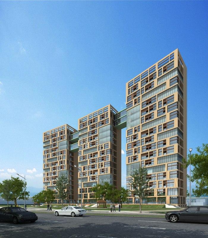building apartments 3D model