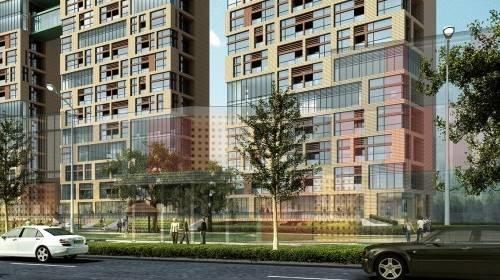 3D building apartments townhouse