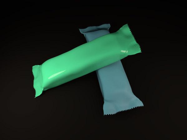 3D candy bar wrapper