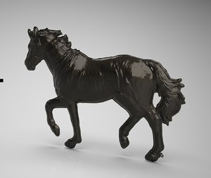 horse body relief modeled 3D