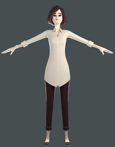 teacher 3D model